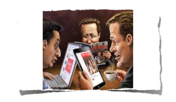 The Week magazine on desktop and ipad